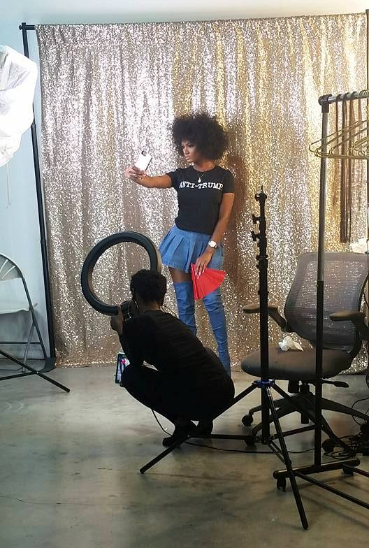 "Amazing and fun behind the scenes photos for ""She's Happy Hair"" commercial shoot !!"